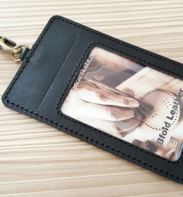 id card holder kulit