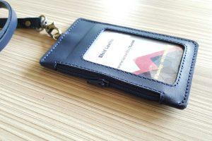 bikin tempat id card kulit