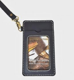 id card holder biru navy