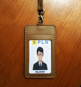 name tag kulit custom