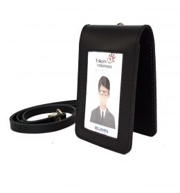 id card kulit magnet